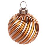 De gouden sinaasappel van de de decoratieclose-up van de Kerstmisbal metaal stock illustratie