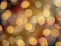 De gouden sinaasappel vertroebelde feestelijke partij aansteekt gloeiende vage abstracte achtergrond royalty-vrije stock foto's