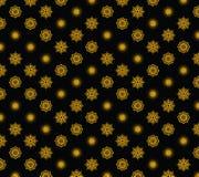 De gouden sneeuwvlokken van de vectorvakantie op zwarte achtergrond stock illustratie