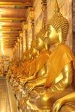 De gouden standbeelden van Boedha Royalty-vrije Stock Foto
