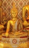 De gouden standbeelden van Boedha Royalty-vrije Stock Afbeelding