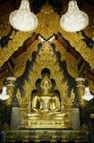 De gouden standbeelden van Boedha Royalty-vrije Stock Foto's
