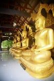 De gouden standbeelden van Boedha Royalty-vrije Stock Fotografie
