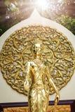 De gouden standbeelden van Boedha Stock Afbeelding