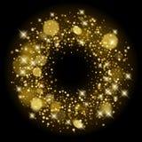 De gouden sterrenlovertjes schitteren achtergrondmalplaatje vector illustratie