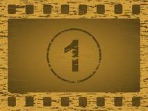 De gouden strook van de grungefilm Stock Foto's