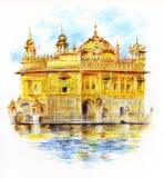 De Gouden Tempel Sri Harmandir Sahib Stock Foto's