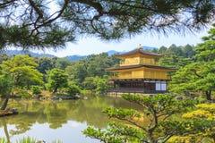 De Gouden Tempel van de Kinkakujitempel in Kyoto, Japan Royalty-vrije Stock Foto