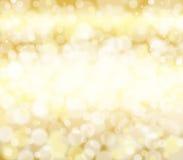 De gouden textuur van de metaalfolie met bokeheffect achtergrond Royalty-vrije Stock Fotografie