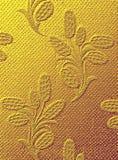 De gouden textuur van de stof - Royalty-vrije Stock Fotografie