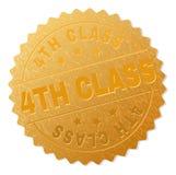 De gouden 4TH Zegel van de KLASSENmedaille Royalty-vrije Stock Foto