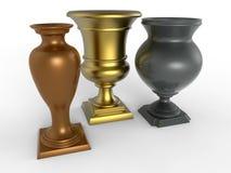 De gouden trofeeën van het Zilver en van het Brons royalty-vrije illustratie