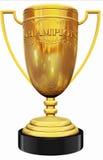 De gouden trofee van de kampioen stock illustratie