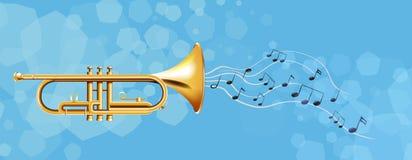 De gouden trompet royalty-vrije illustratie