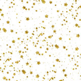 De gouden van de de Folie Metaalster van Sterrenfaux Witte Achtergrond Royalty-vrije Stock Afbeelding