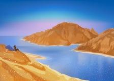 De gouden vector van Egypte Stock Afbeeldingen