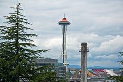 De Gouden Verjaardag van Seattle Spaceneedle Stock Foto's