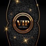 De gouden VIP illustratie op glanzend schittert achtergrond Royalty-vrije Stock Foto's