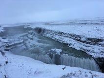 De Gouden Waterval van IJsland GullFoss, Gouden Cirkel stock foto's