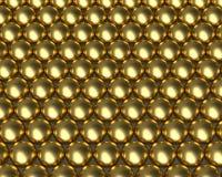 De gouden weerspiegelende textuur van het ballenpatroon Royalty-vrije Stock Afbeeldingen