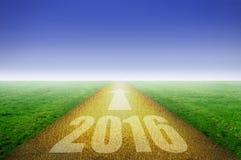 de gouden weg van 2016 Stock Afbeeldingen