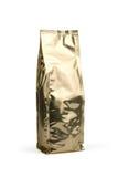 De gouden zak van de foliekoffie Stock Foto's