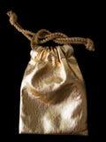 De gouden zak van het Leer stock foto