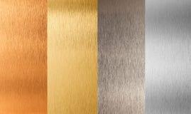 De gouden zilveren reeks van het brons non-ferro metaal Stock Afbeeldingen