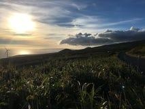 De gouden zon van Maui bij zijn het fijnst Stock Afbeeldingen