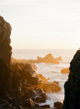 De gouden Zonsondergang van Californië Stock Afbeeldingen