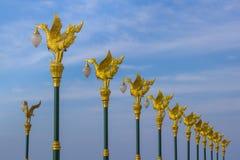 De gouden zwaanlamp Stock Foto's