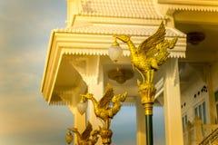 De gouden zwaanlamp Royalty-vrije Stock Foto's