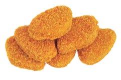De goudklompjes van de kip stock afbeelding