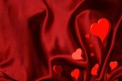 De Goudklompjes van het Hart van de valentijnskaart Royalty-vrije Stock Foto