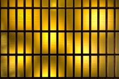 De goudstaven blokkeren Drie Afmetingsconcept Stock Foto's