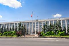 De Gouvernmentbouw in Chisinau, Republiek Moldavië Royalty-vrije Stock Fotografie