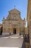 De Gozo-Kathedraal binnen de Citadel van Victoria - Victoria, Gozo, Malta stock foto