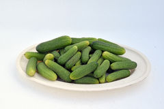 De gröna ättiksgurkorna royaltyfria foton