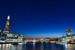 De 360 de graad ononderbroken meningen Van de binnenstad van Londen over de hele stad van Londen royalty-vrije stock afbeeldingen