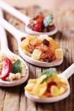 De graangewassen en het gedroogd fruit van het ontbijt Royalty-vrije Stock Afbeelding
