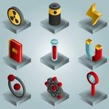 De gradiënt isomerische pictogrammen van de fysicakleur Royalty-vrije Stock Afbeeldingen