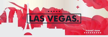 De gradiënt van de de horizonstad van de V.S. de Verenigde Staten van Amerika Las Vegas vec Stock Foto