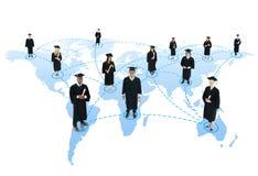 De Graduatie Communautair Concept van het studenten sociaal netwerk Royalty-vrije Stock Afbeelding