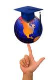 De Graduatie van de universiteit. Stock Foto