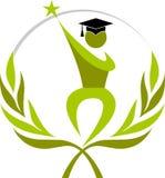 De graduatie van de winnaar vector illustratie