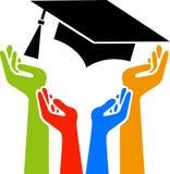 De graduatie van handen Stock Foto's