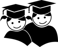 De graduatie van het paar Stock Foto's