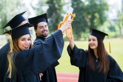 De Graduatiestudent Success Learning Concep van het vieringsonderwijs royalty-vrije stock afbeelding