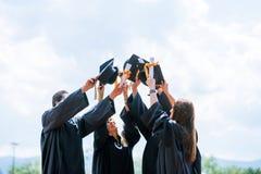 De Graduatiestudent Success Learning Concep van het vieringsonderwijs royalty-vrije stock fotografie