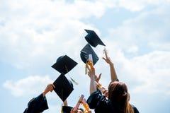 De Graduatiestudent Success Learning Concep van het vieringsonderwijs stock foto